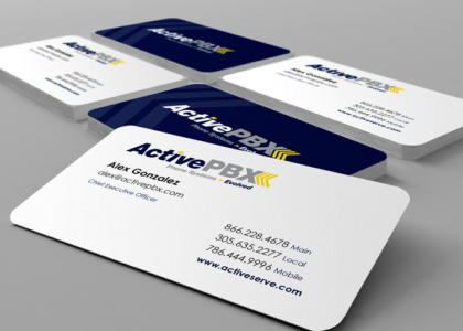 active pbx business cards