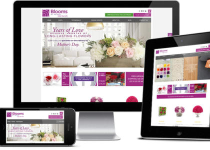 Blooms website multiple devices