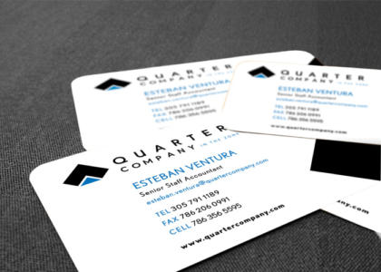 quarter company business cards