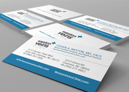 weston veins business cards