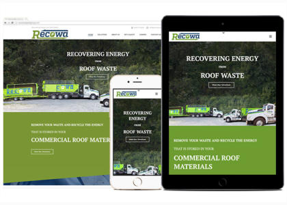 Recowa website for multiple devices