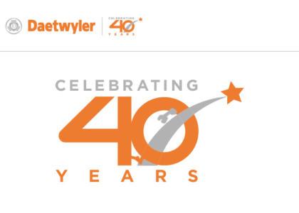 Daetwyler 40th logo