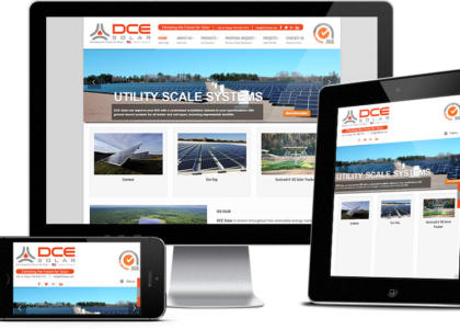 DCE Solar website multiple devices