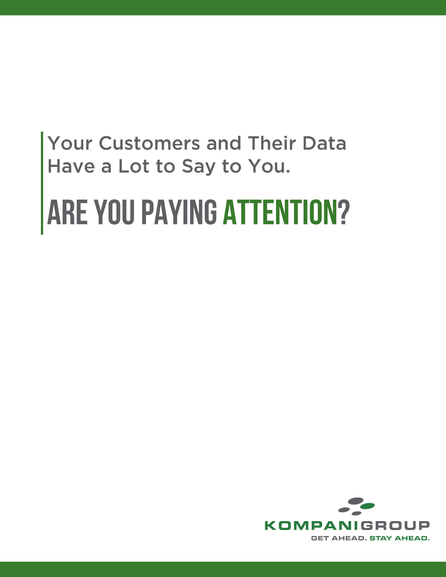 Kompani Group Data driven marketing ebook