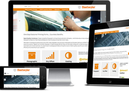 Daetwyler e-customer website multiple devices