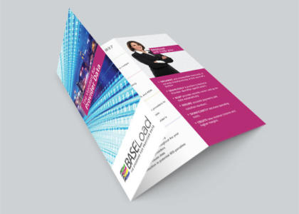 BaseLoad tri-fold full color brochure