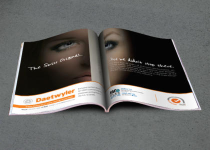 Daetwyler full color two page magazine ad