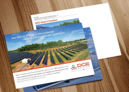 DEC Solar full color postcard