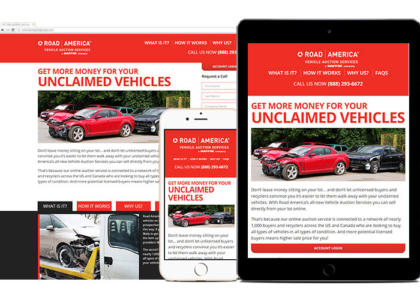 Road America landing page