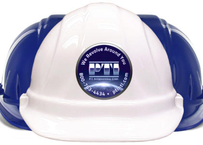 PTI International hard hat logo