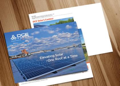 DCE Solar full color postcard