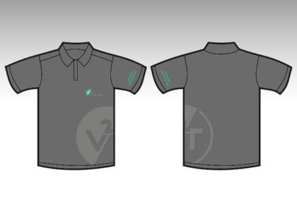 V2T polo shirt logo