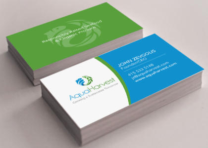 AquaHarvest business cards