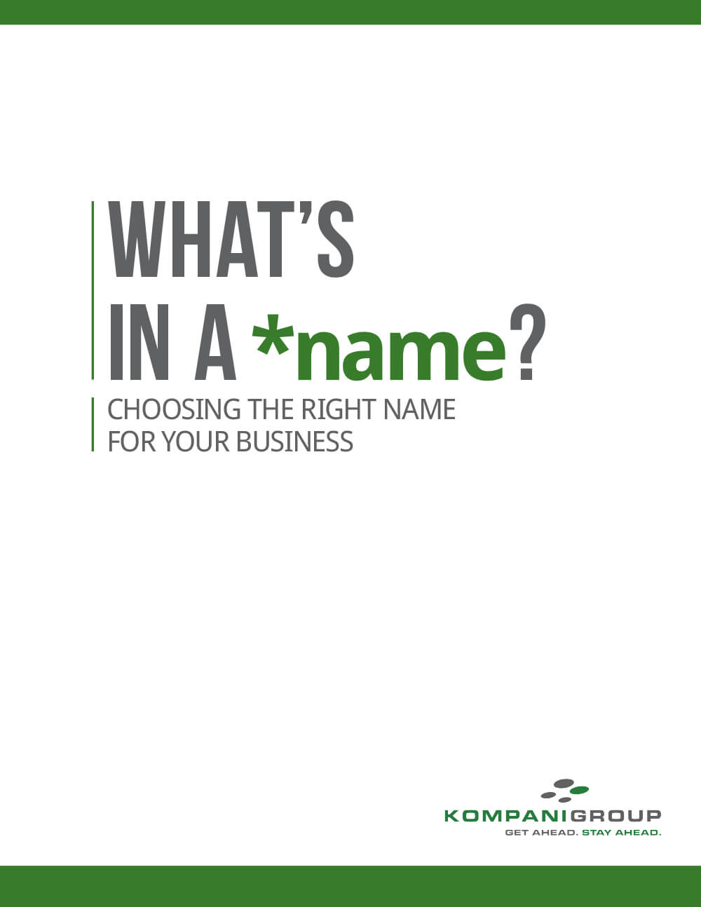 Kompani Group Business Naming E-book