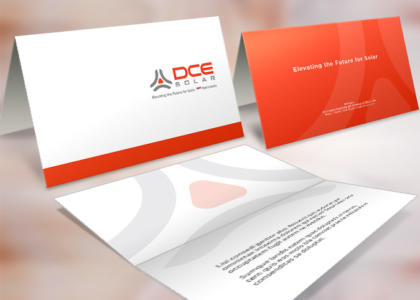 DCE Solar Greeting card logo