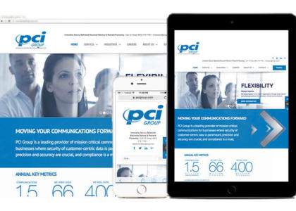 PCI Group website on multiple devices