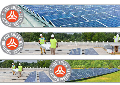 DCE Solar Qualified Installer Program banners